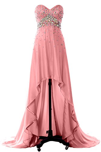 Lo Evening Gown Dress Homecoming Formal MACloth Women Long Zartrosa Prom Hi Crystal Party R6AaEw