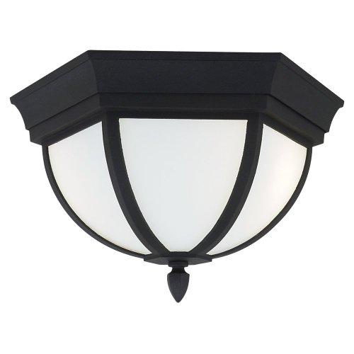 Sea Gull Lighting 79136BLE12 Bakersville Outdoor Ceiling Fixture, Black by Sea Gull Lighting