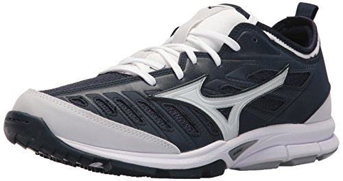 - Mizuno Men's Players Trainer 2 Turf Baseball-Shoes,Navy/White,12 D US