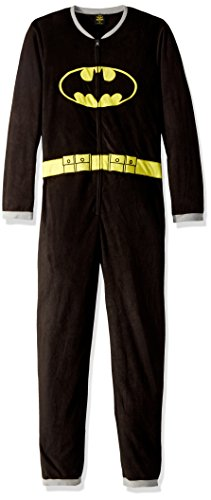TV Store Batman Black Union Suit Mens Caped Pajama (Adult Medium) ()