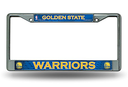(Rico Golden State Warriors Chrome Metal License Plate Frame)