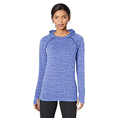 Essentials Women's Brushed Tech Stretch Popover Hoodie: Clothing