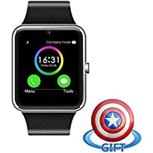 Fam-health Water Splash Resistant Smart Watch Anti Lost and Hand free for Android 4.3 above and iPhone 5s/6/6s/7/7s (Silver)