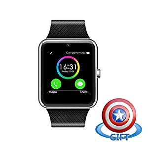 Fam-health Sweatproof Smart Watch Phone for iPhone 5s/6/6s/7/7s and 4.2 Android or Above SmartPhones (Silver)