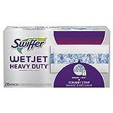 Swiffer WetJet Extra Power with Mr. Clean MagicEraser Hardwood Floor Cleaner Refills, Wet Jet Spray Mop Pad Refill, 20 Count
