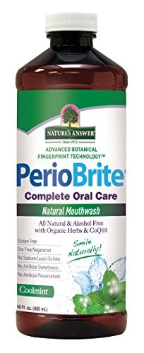 Nature's Answer PerioBrite Alcohol-Free Mouthwash, Cool Mint, 16-Fluid Ounce by Nature's Answer