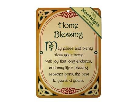 (Royal Tara Home Blessing Irish Nostalgia Metal Sign)