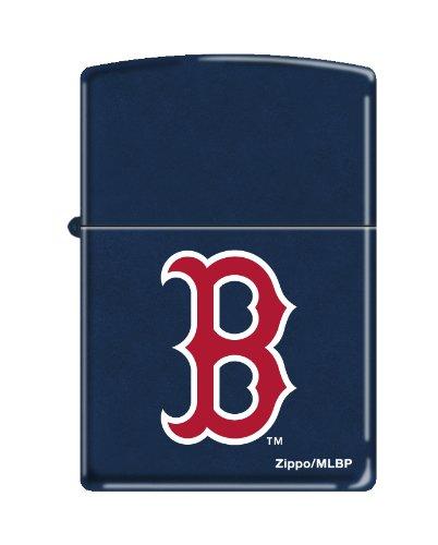 Zippo Lighter MLB Boston Red Sox Navy Blue (Red Sox Zippo Lighter)