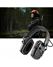 Ear Protector, 2/Pcs Electronic Shooting Earmuff Anti-Noise Impact Ear Protector Outdoor Sport Sound Amplification Headset Foldable Hearing Protector (Color : Black)