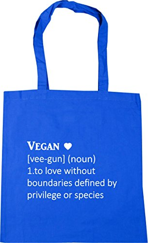 HippoWarehouse Vegan Definition [vee-gun] (noun) 1. To love without boundaries defined by privilege or species Tote Shopping Gym Beach Bag 42cm x38cm, 10 litres Cornflower Blue
