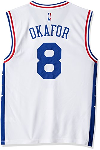 NBA Men's Philadelphia 76ers Okafor Replica Player Home Jersey, Medium, White - Philadelphia Jerseys