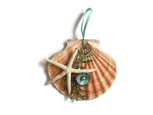 (Coastal Seashell Christmas Ornament)