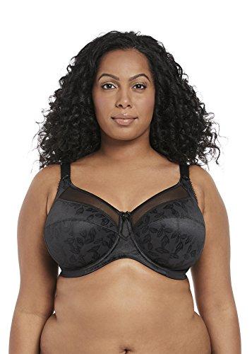 Goddess Women's Plus-Size Petra Underwire Banded Bra Bra, Black, 44K