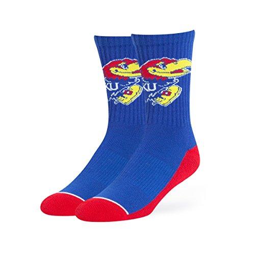 NCAA Kansas Jayhawks OTS Anthem Sport Sock, Royal, Large