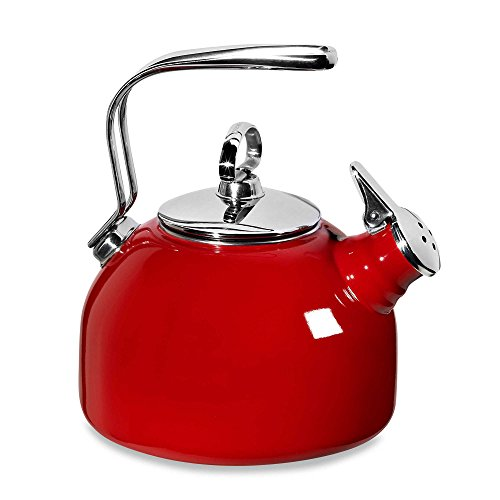 - Chantal Enamel Steel Classic Tea Kettle in Red