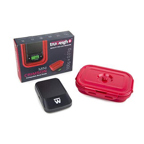 Truweigh Mini Crimson Collapsible Bowl Scale - 100g x 0.01g ()