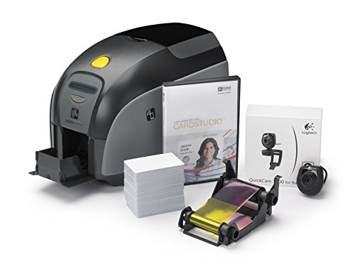 Zebra Z11-0000B000US00 QuikCard ID Solution ZXP Series 1 ID Card Printer, Single-Sided Cards, Monochrome or Color, 300 dpi, 9.3