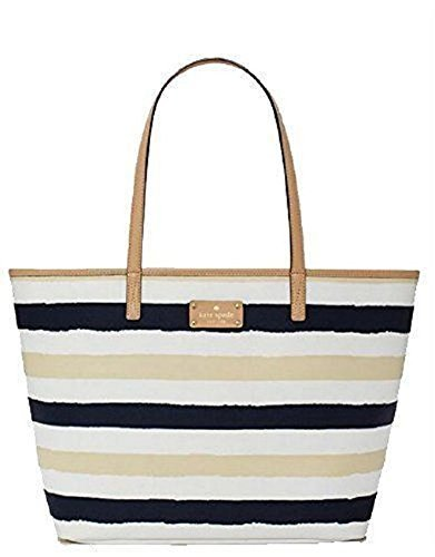 Kate Spade New York 'Bondi Road' Meduim Harmony Tote, Navy / Cream