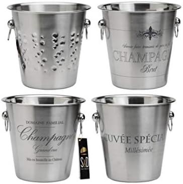 "Champagnerkübel ""Stahl"" als Dekoobjekt, verschiedene Designs"