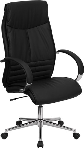 High Back Black Leather Executive Office Chair [BT-9996-BK-GG] Computer, Electronics