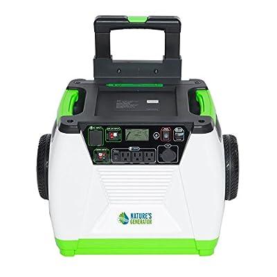 Nature's Generator - 1800W Solar & Wind Powered Portable Generator