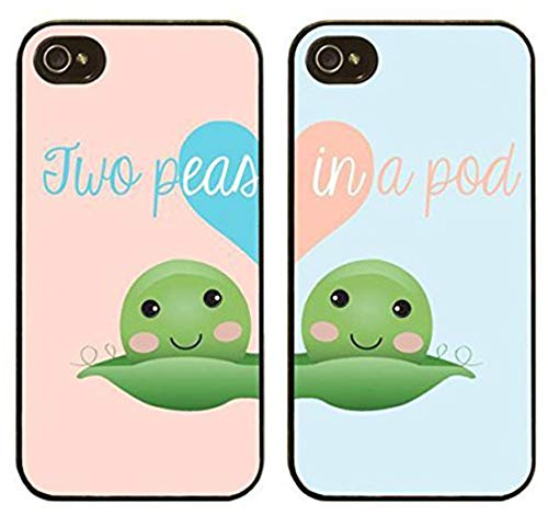 separation shoes 4c94d 9b06b iPhone 6 / 6s Compatible, Set Of 2, Cartoon Animated Anime BFF Best Friend  Two Peas In a Pod Hard Case Cover