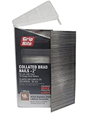 Grip Rite MAXB64878 18-Gauge 304-Stainless Steel Brad Nails in Belt-Clip Box (Pack of 1000), 2-Inch