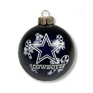 Amazon Com Dallas Cowboys Small Painted Round Candy Cane