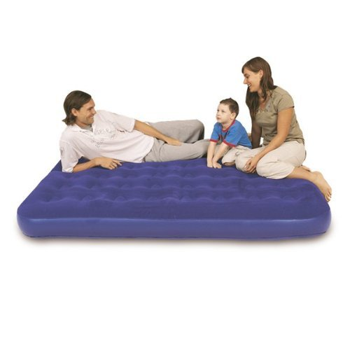 Inflatable Single Double Flocked Air Bed Camping Relax