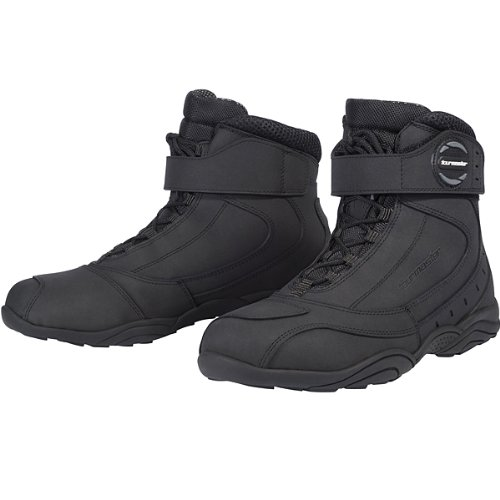 Tour Master Response WP 2.0 Road Men's Leather Street Bike Motorcycle Boots - Black / Size 9 Rocky Road Boot