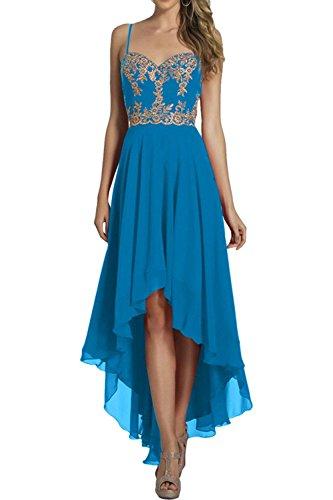 Linie A Elegant Ballkleider Blau Wadenlang Kurz Hi Brautjungfernkleider Abendkleider lo Marie Braut Chiffon La YIcHqZwfXH