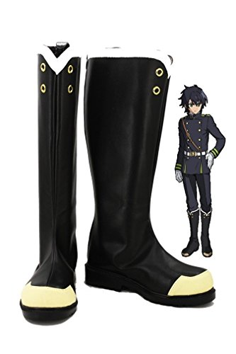 Bromeo Seraph of the End Anime Yuichiro Hyakuya/Hiiragi Shinoa Cosplay Chaussure Bottes Boots