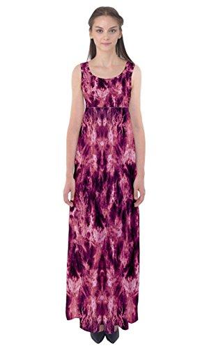 CowCow Womens Magenta Tie Dye Empire Waist Maxi Dress, Magenta Tie Dye - L