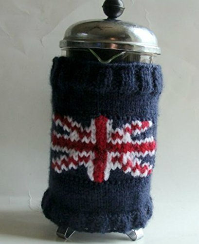 Union Jack British Flag French Press Cafetiere Knitted Cozy ()