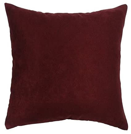 Amazon DreamHome Solid Faux Suede Decorative Pillow Cover Fascinating 22x22 Decorative Pillows