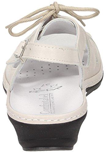 Comfortabel Damen Sandalette Offwhite