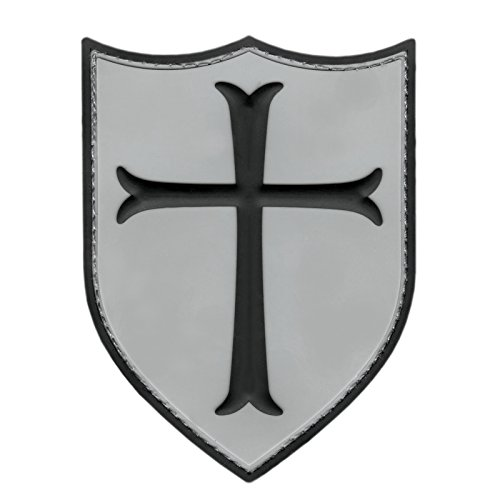ACU Subdued Templar Crusader's Cross US Navy Seals Morale PVC 3D Rubber Touch Fastener Patch