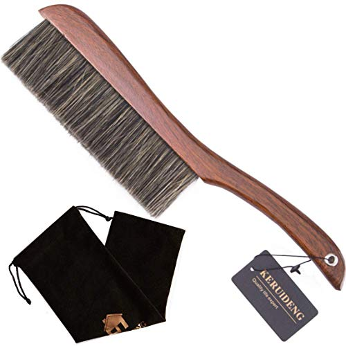 KERUIDENG Counter Duster Dusting Brush for Home Cleaning, Soft Dust Brush with Long Wooden Handle for Home Hotel Office Car, 15''Length, -