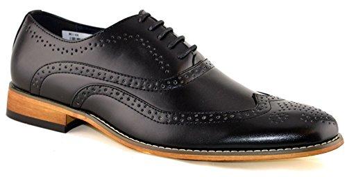 Goor Heren Leren Uniform Schoenen 7 Zwart