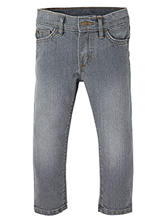 Wrangler Unisex-Child ZT4JSIG Authentics Toddler Boys' Skinny Jean Jeans - Gray - 2T
