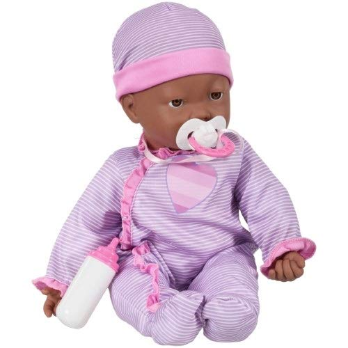 Interactive Baby Doll - Makes Breathing Sounds, Sucks on Her Bottle or Pacifier, Her Face Moves Just Like a Real Baby, Giggles and Makes Sound When She is Held (Brown)