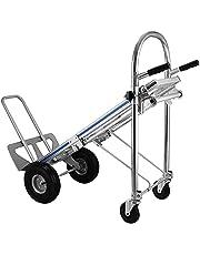ZauberLu 3 IN 1 aluminium opvouwbare trolley 250/350 kg handvouwwagen met 2 of 4 wielen handvouwbare trolley aluminium traptrede