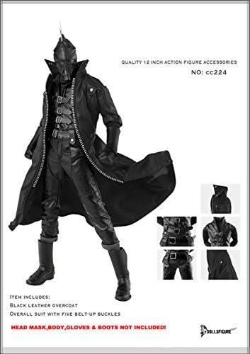 ブラックコート& オーバーオール Artcreator_BM 1/6 Black Dark Tool Equipment Uniform Full Set cc224-new version