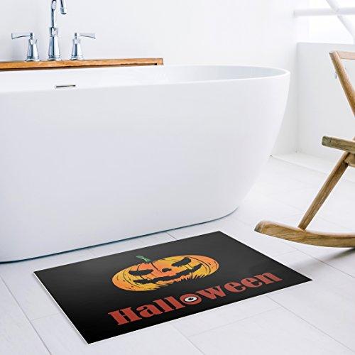Welcome Pumpkin Non Slip Halloween Decoration Doormat (Custom Halloween Doormats)