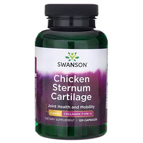 Swanson Chicken Sternum Cartilage Collagen Type Ii 500 Milligrams 120 Capsules