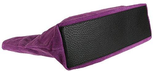 Suede Purple Handbag Girly HandBags Italian Genuine HandBags Girly Light Genuine zdBq0Xqwnx