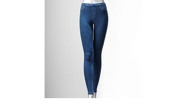 e2f27c6eadc6b Simply Vera Vera Wang Denim Capri Leggings at Amazon Women's Jeans store