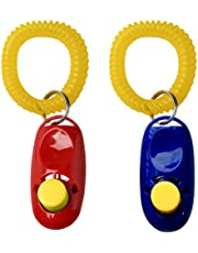SunGrow Dog Clickers, Colorful and Practical Set of Simple, Convenient and Effective Training Tools for Puppy, Humanized Scientific Professional Design, Perfect Size and Sound