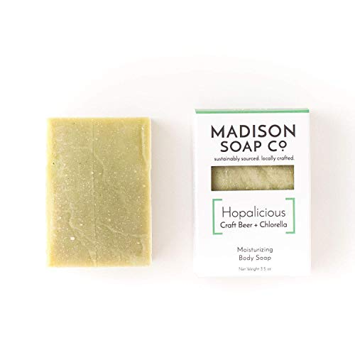 Hopalicious, Craft Beer + Chlorella Small-Batch Artisanal Handmade Beer Soap with Shea Butter and Avocado Oil