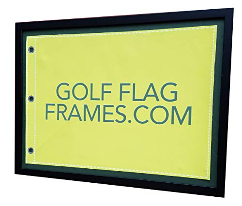 Golf Flag Frames Compact Black, Moulding blk-007, Reversible Green-Black Mat (holds up to 14x20 Golf Flags; flag Not -
